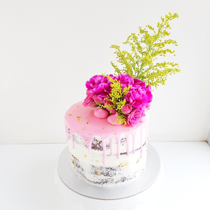 The Baking Experiment Rustic Floral Cake