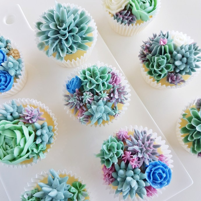 The Baking Experiment Succulent Cupcakes