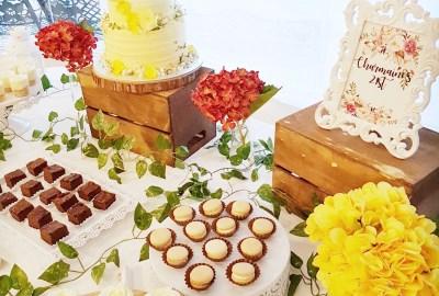 Rustic Floral Dessert Table
