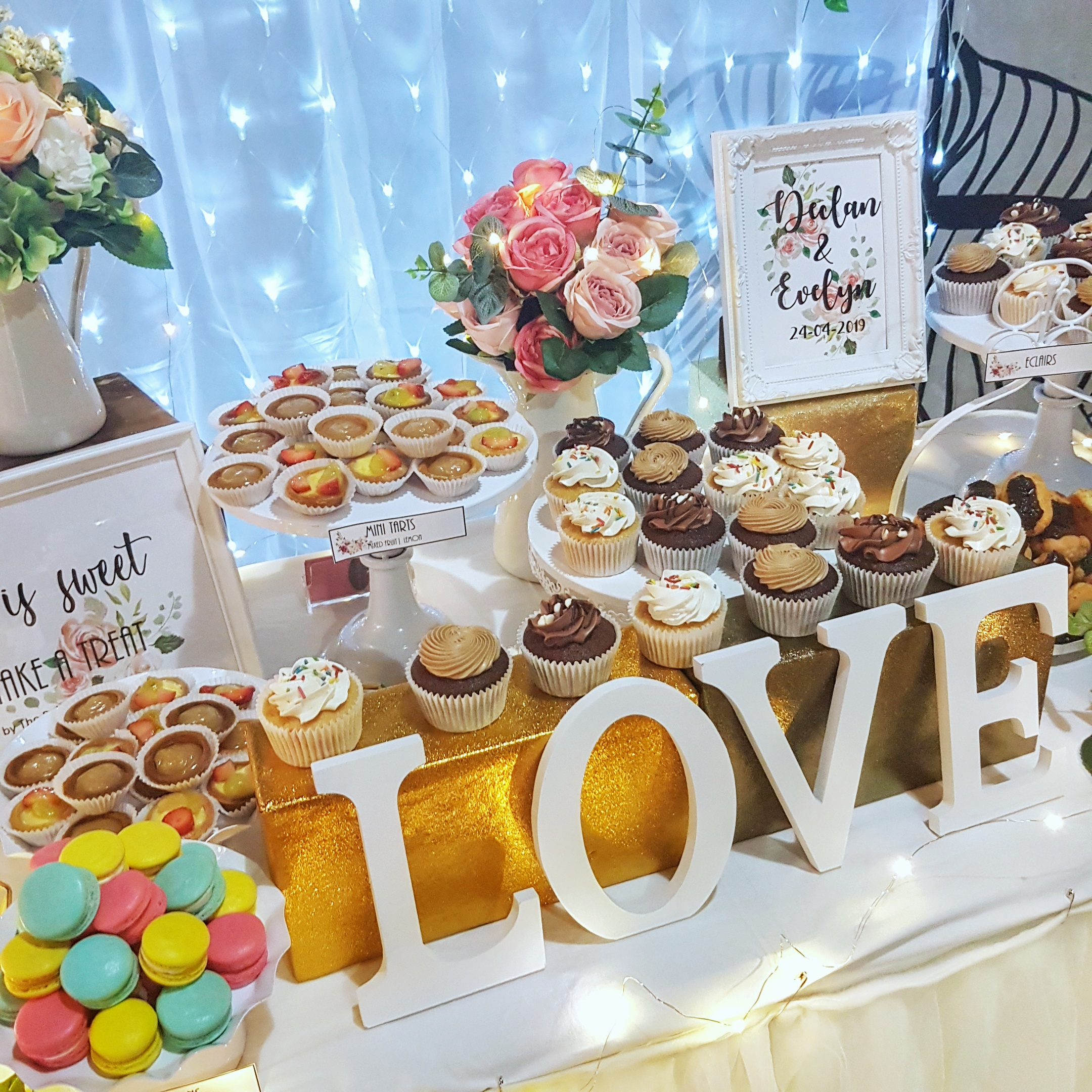 Wedding Dessert Table by The Baking Experiment