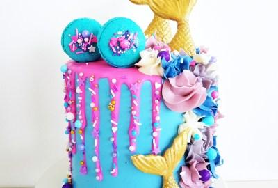 Mermaid Cake with Sprinkle Drip
