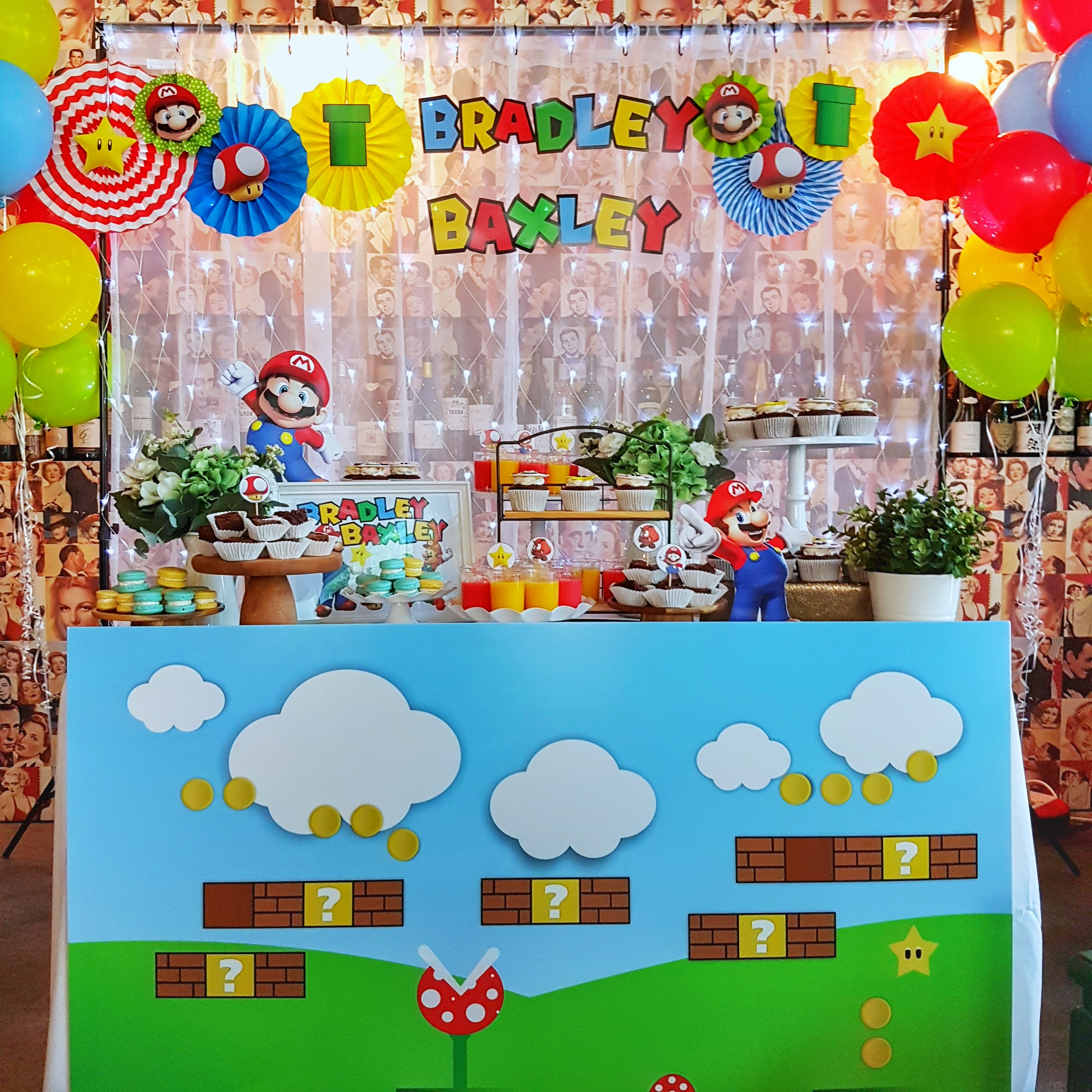 Mario dessert table by The Baking Experiment