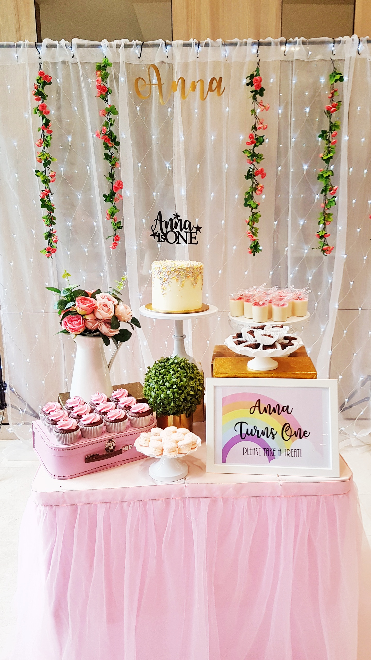 Pastel Pink Dessert Table by The Baking Experiment