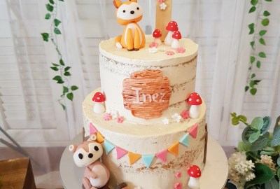 Woodlands Animals Cake by The Baking Experiment