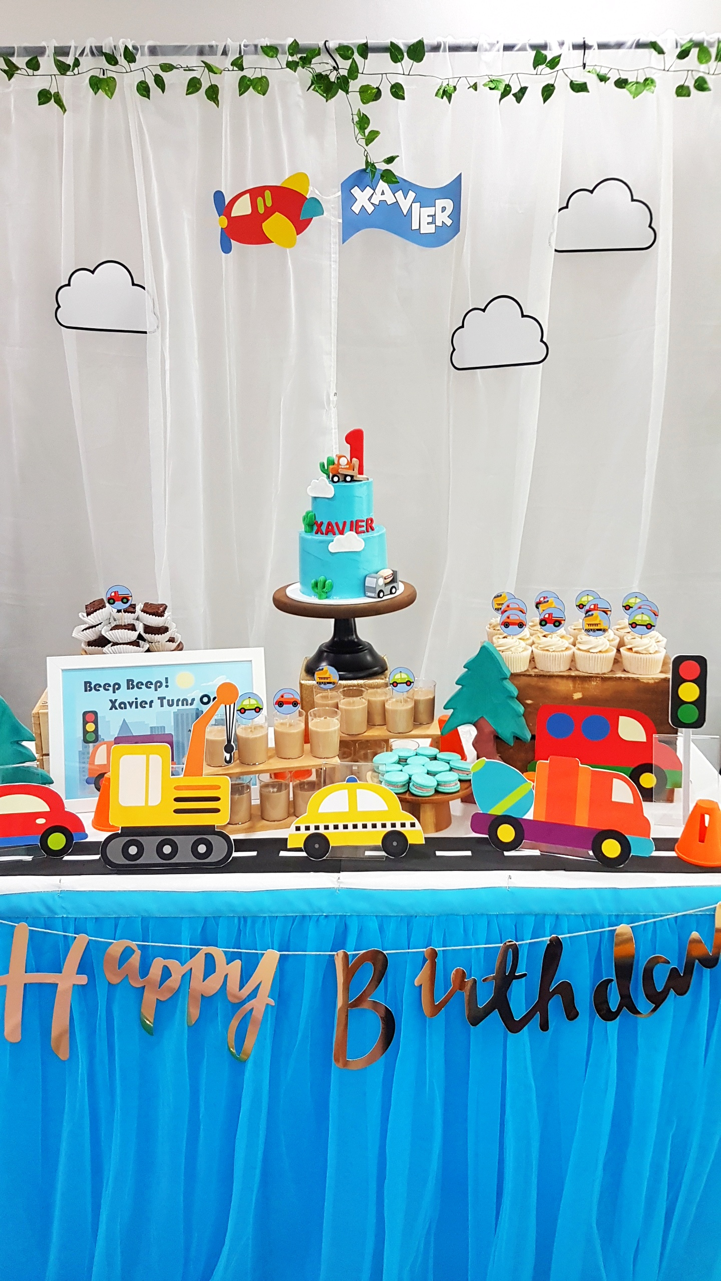 Cute Cars and Traffic Dessert Table by The Baking Experiment