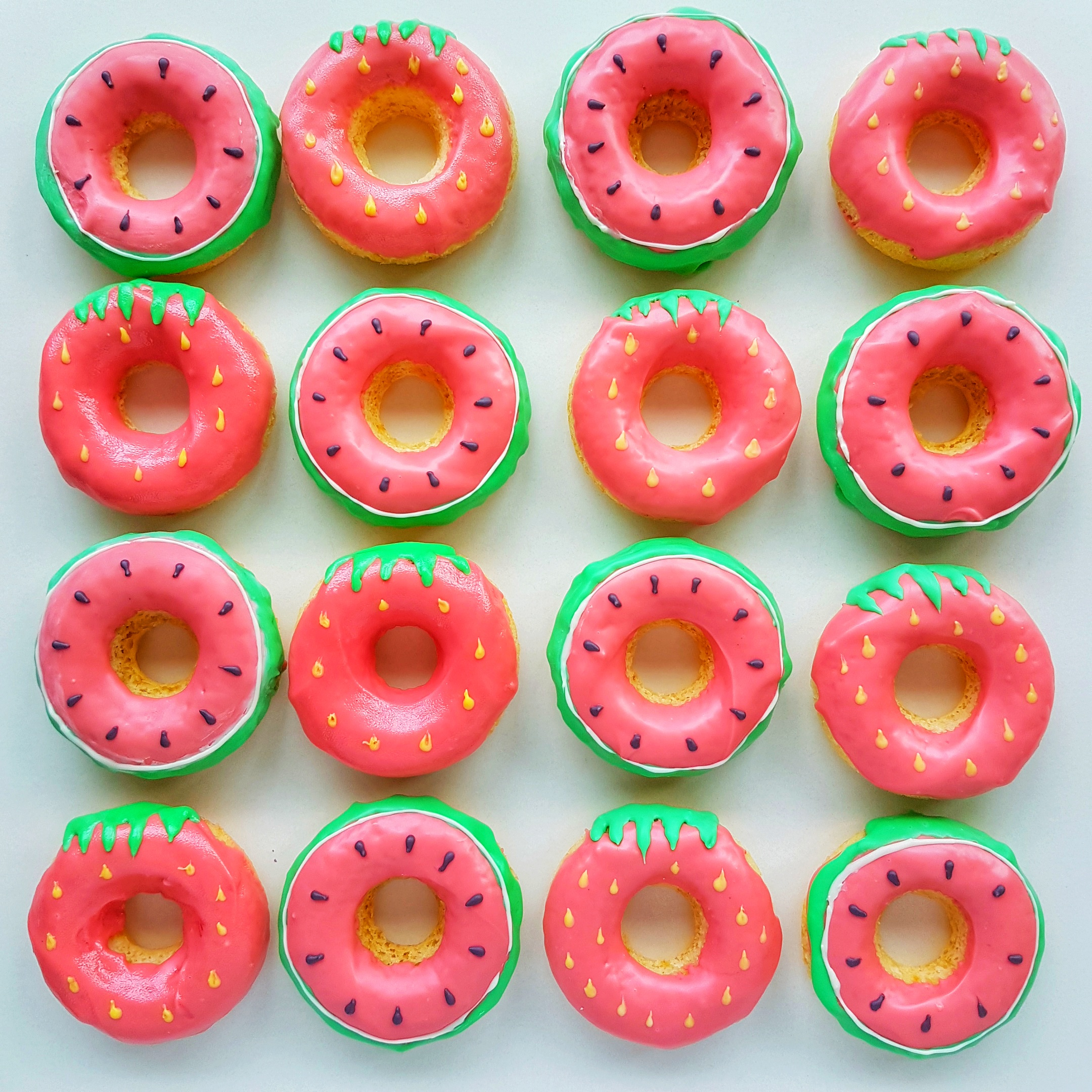 Tutti Frutti Donuts by The Baking Experiment