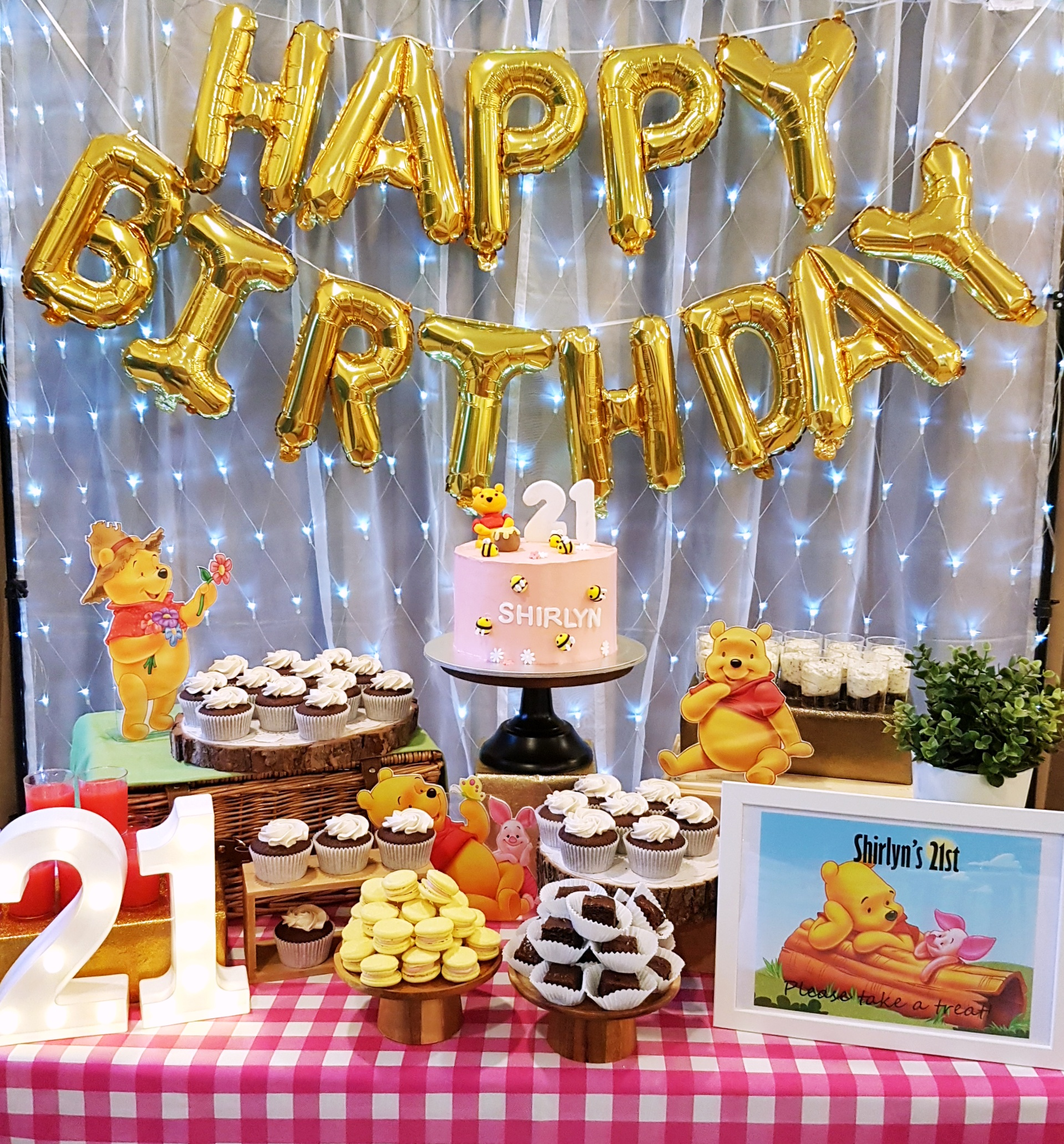 Pooh Picnic Dessert Table by The Baking Experiment