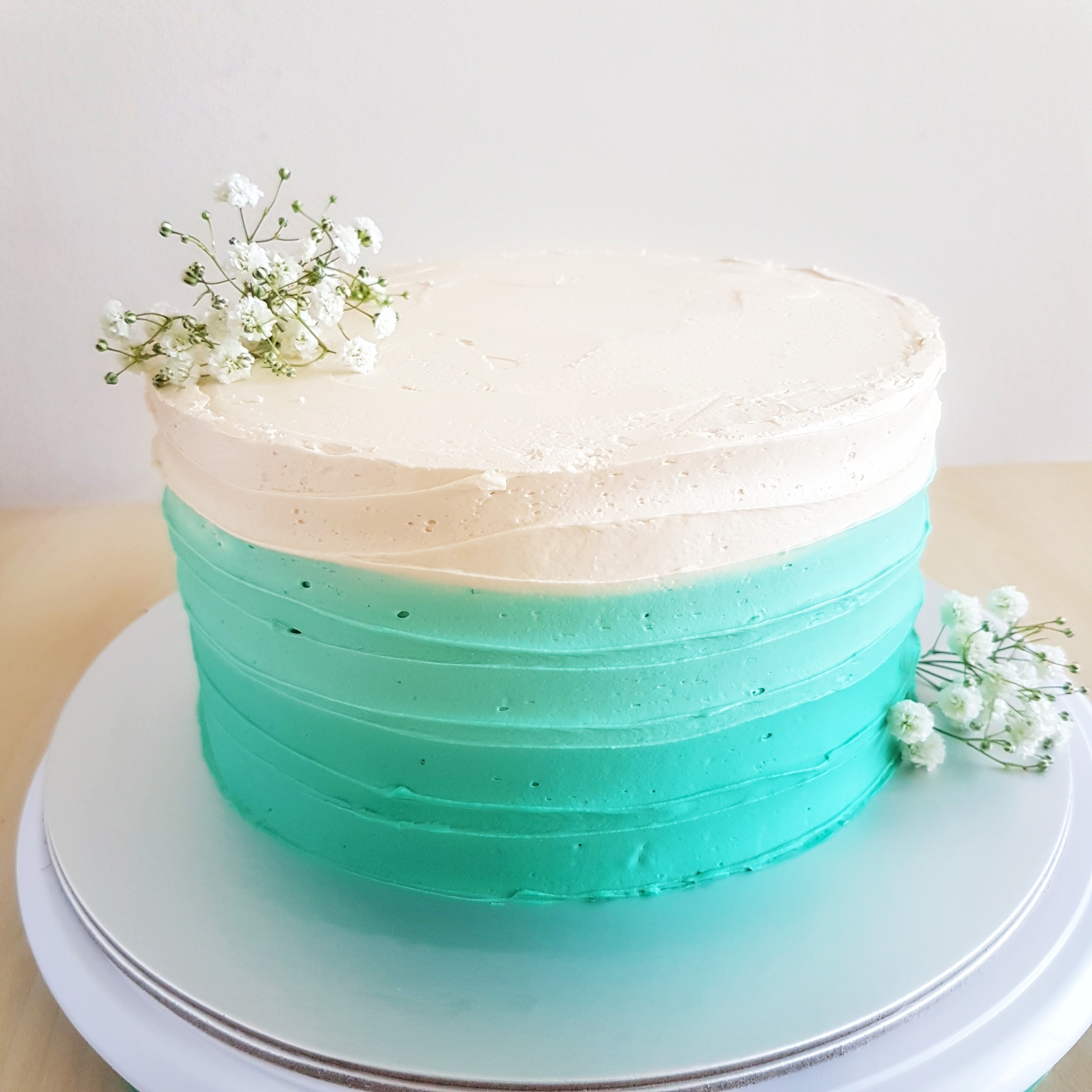 Tiffany Blue Ombre Cake by The Baking Experiment