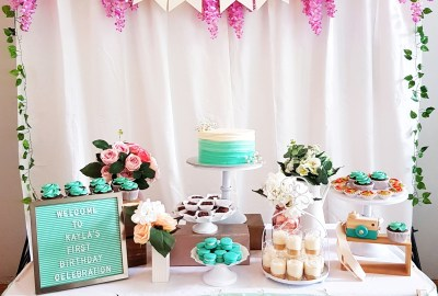 Tiffany Blue Dessert Table by The Baking Experiment