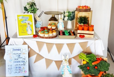 Peter Rabbit Dessert Table by The Baking Experiment