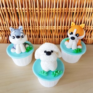 Puppy Cupcakes by The Baking Experiment