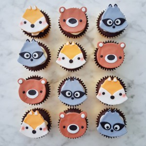Woodlands Animals Cupcakes by The Baking Experiment