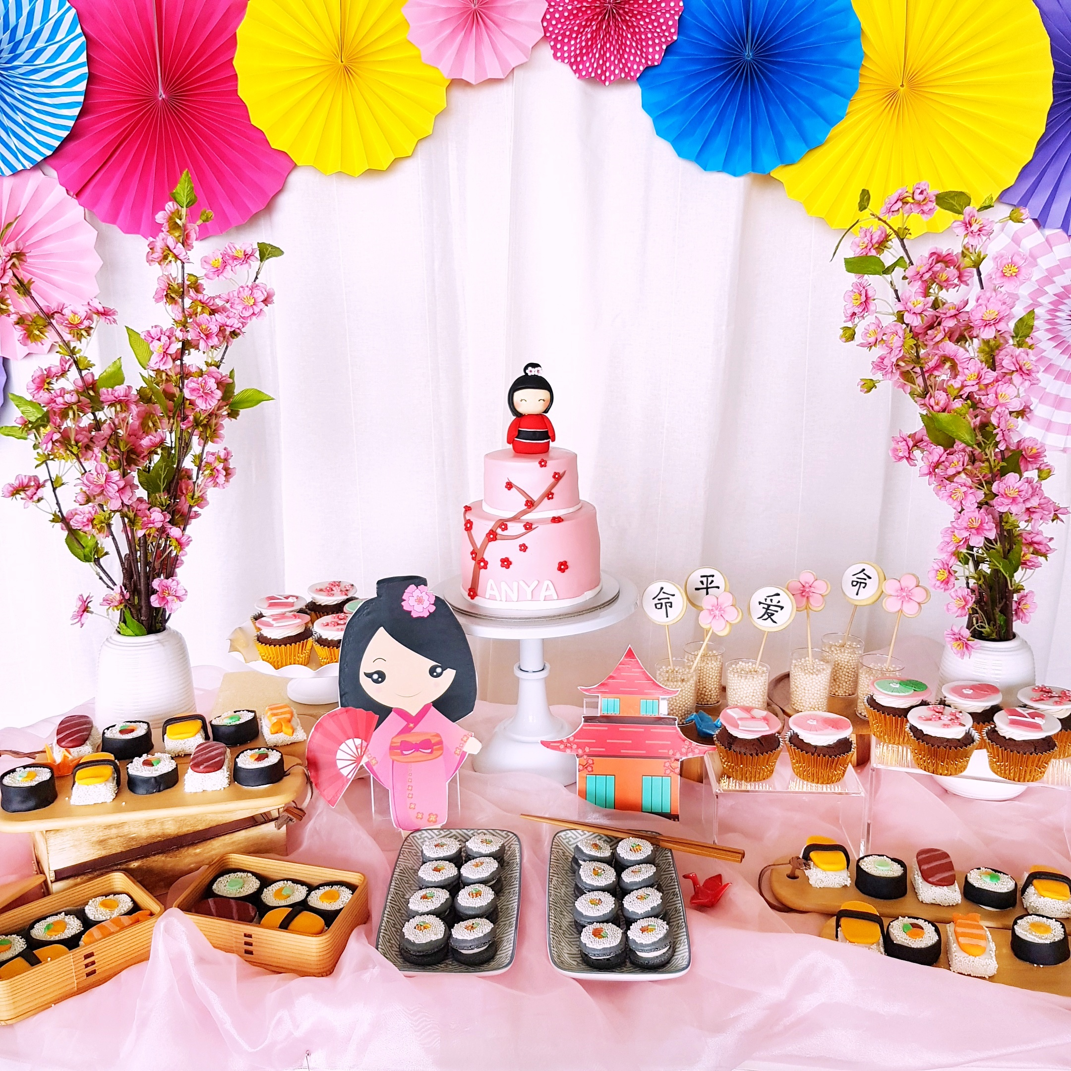 Japanese Dessert Table by The Baking Experiment