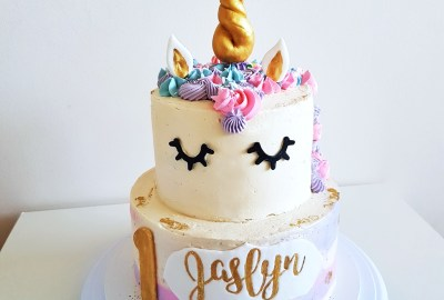 Two Tier Unicorn Cake