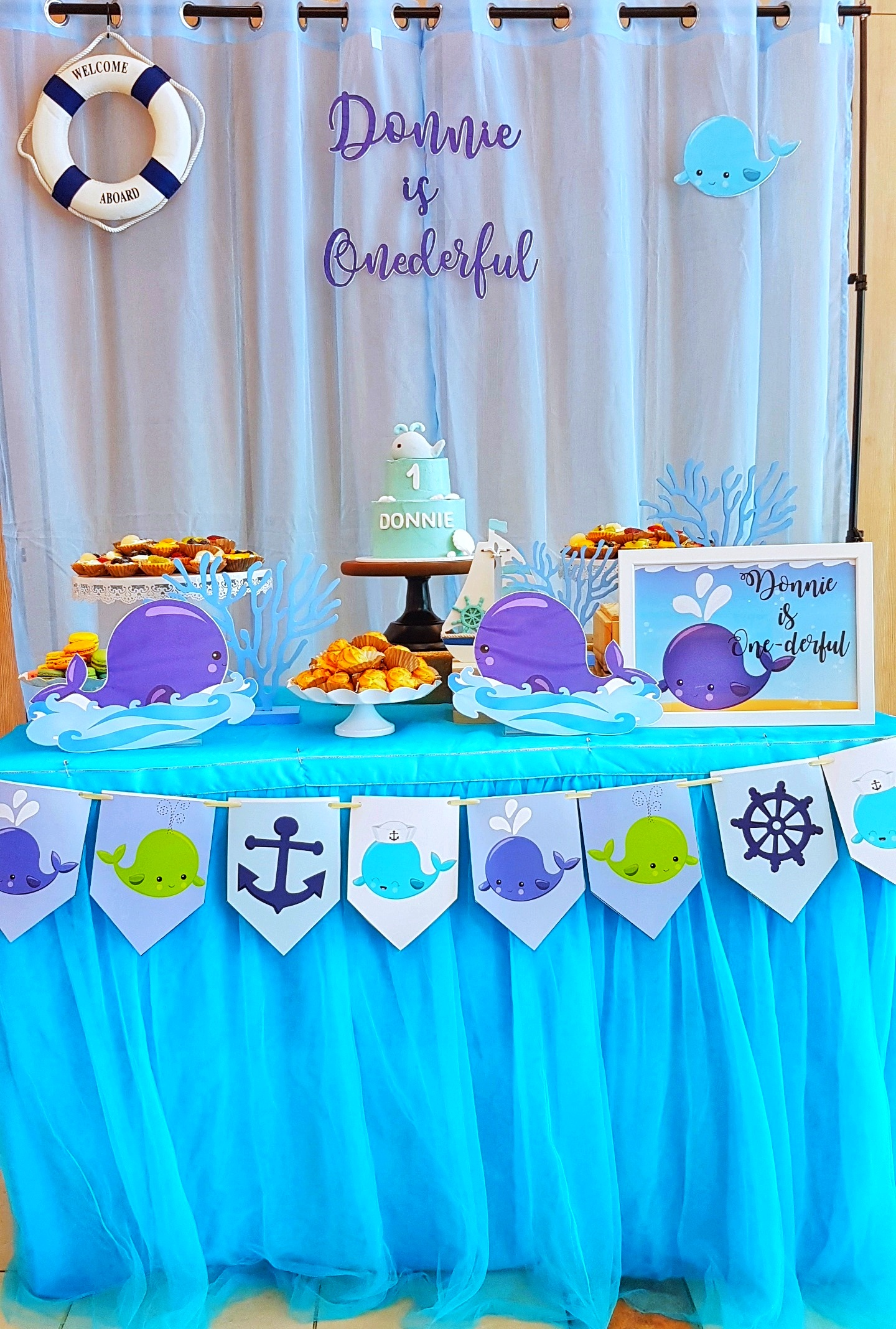 Whale Dessert Table