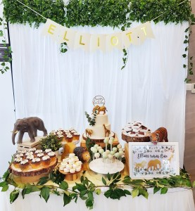 Golden Safari Dessert Table by The Baking Experiment