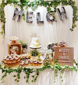 Rustic Gold Wedding Dessert Table