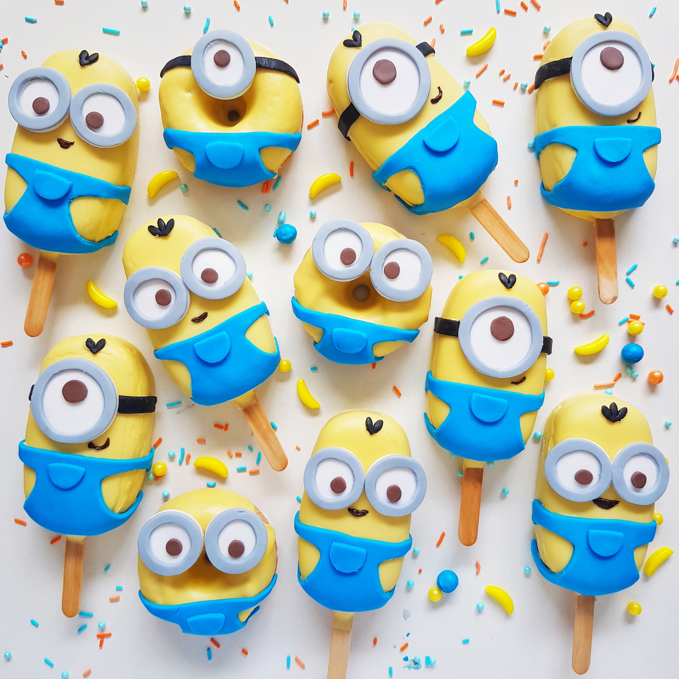 Minions Cake Pops and Donuts
