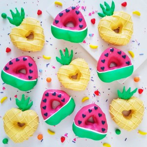Tropical Fruit Donuts by The Baking Experiment