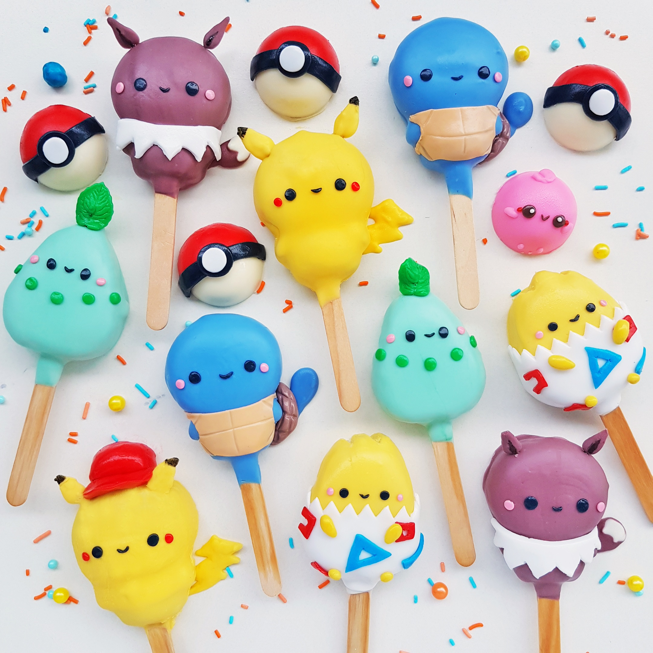Pokemon Cake Pops by The Baking Experiment