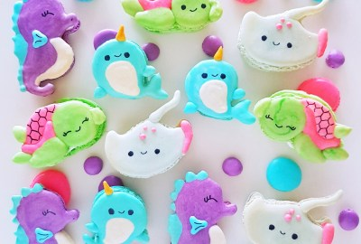 Sea Animals Nautical Macarons by The Baking Experiment