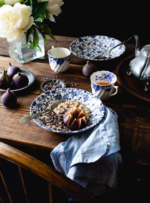Toffee Apple, Hazelnut Porridge with Figs and Cacao
