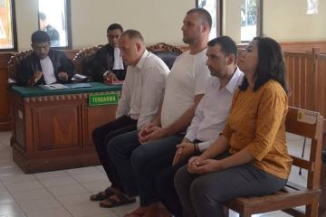 The Denpasar District Court yesterday sentenced three Bulgarian nationals to seven months in prison each for attempting an ATM skimming scheme in Bali.