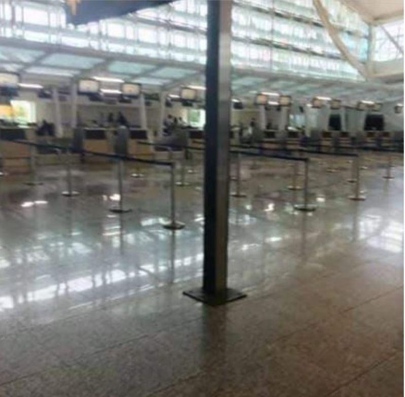 Empty lines bali airport