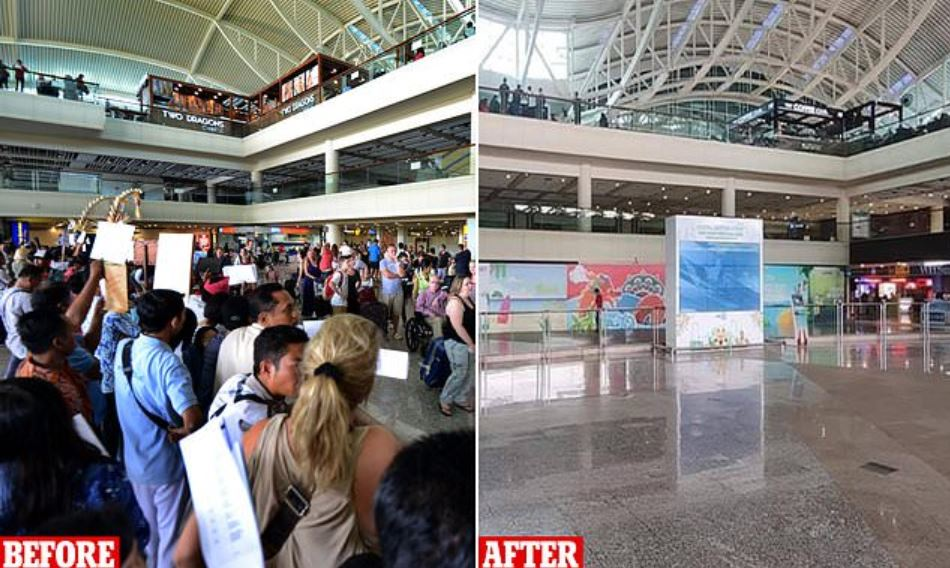 Bali Airport before and after