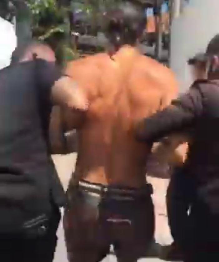 Spanish tourist stealing