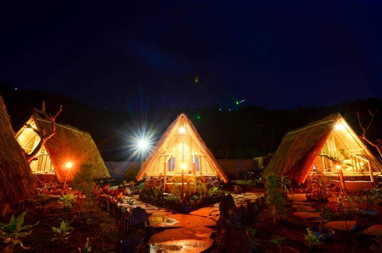 volcano view huts in bali