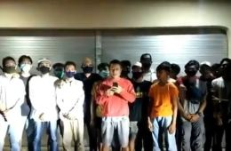 Large Group Apologizes After Partying In The Street Without Masks In Denpasar