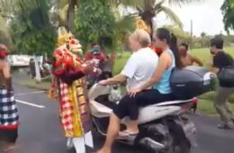 Video Village Officers Dress In Traditional Custumes To Turn Away Beach Visitors