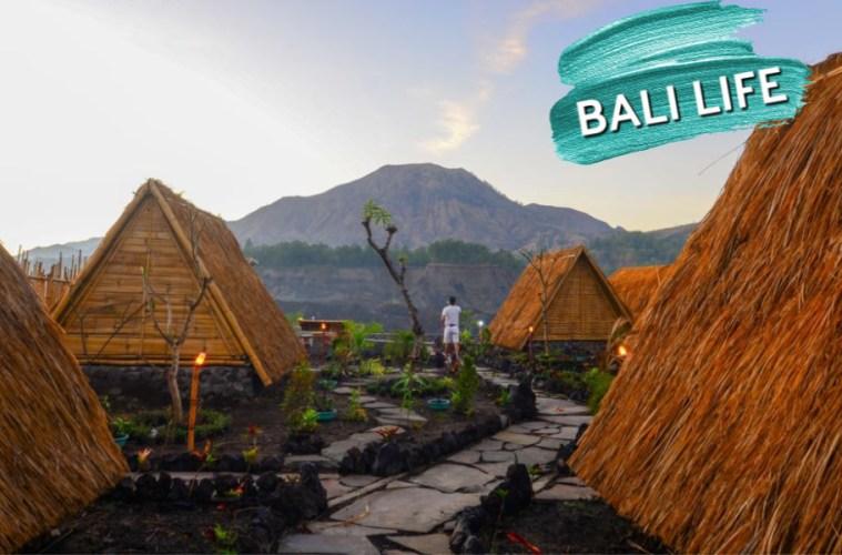 accommodation mount batur - bamboo huts