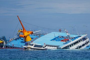 Ferry Sinks In Bali After Running Aground Trying To Enter Port