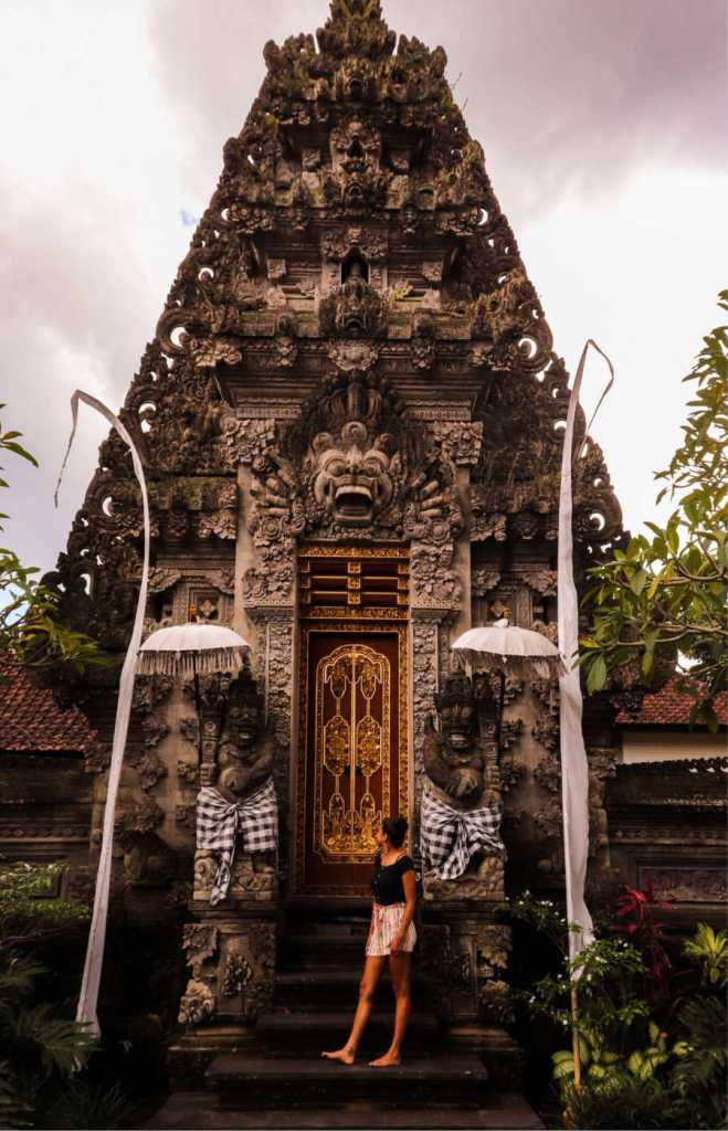 Australian at bali temple