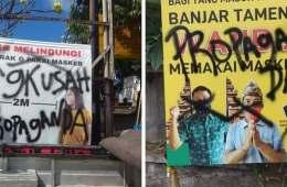Bali Police Investigating Vandalized COVID-19 Billboards