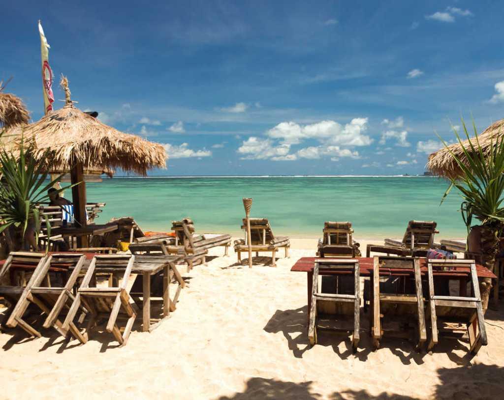 Empty kuta beach