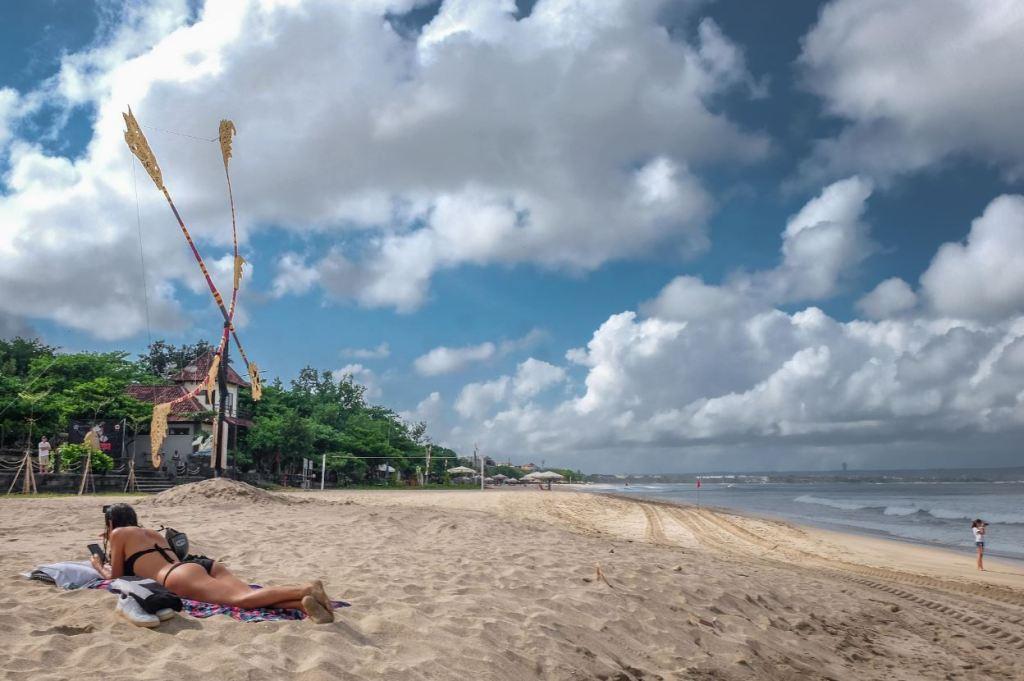 bali tourist in canggu beach