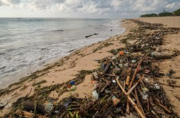 Ocean Currents Cause Massive Waste Build Up At Kuta Beach