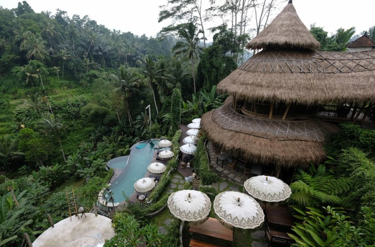 Tree Crashes On Villa Resort In Ubud