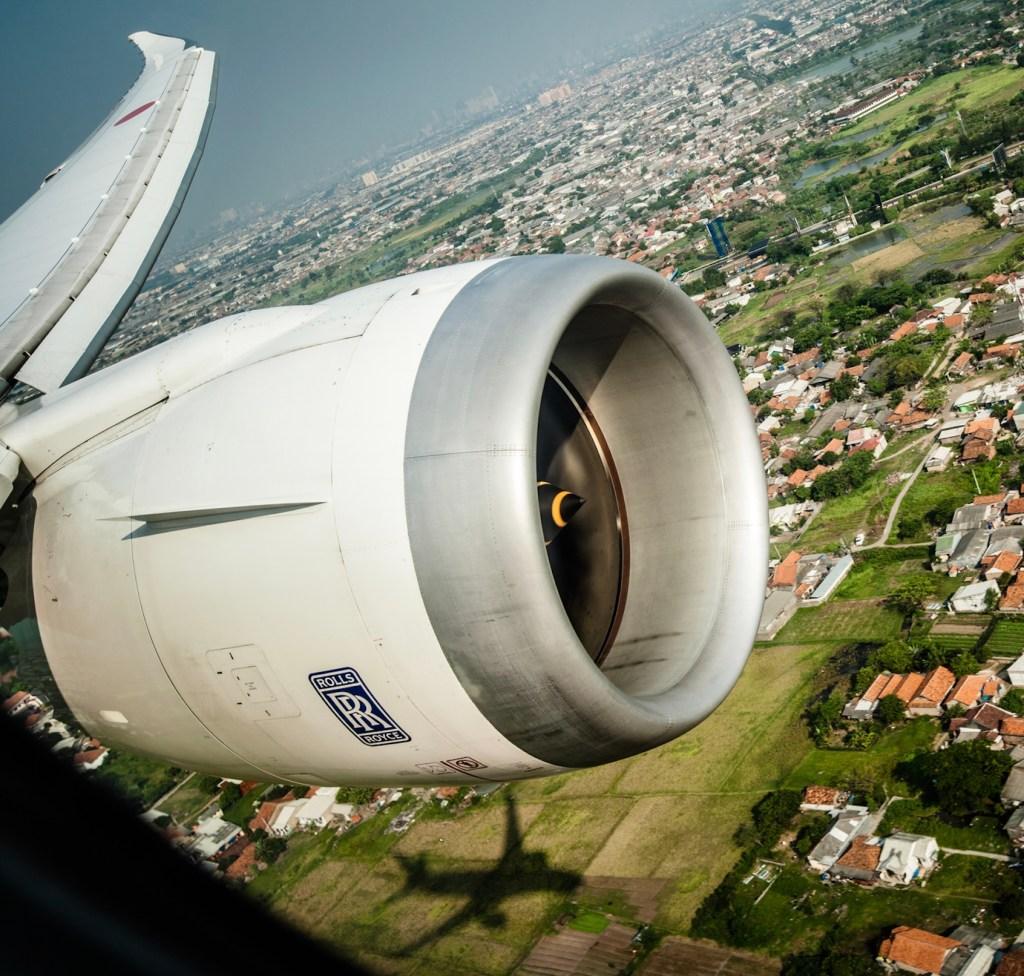 Rolls Royce jet engine Jakarta Indonesia