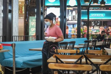 empty cafe in Bali during pandemic