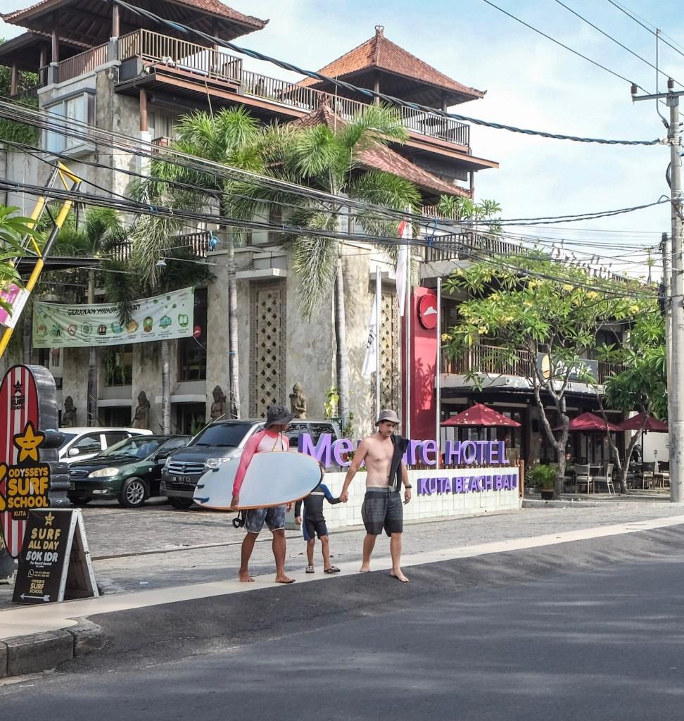 tourists beach Bali