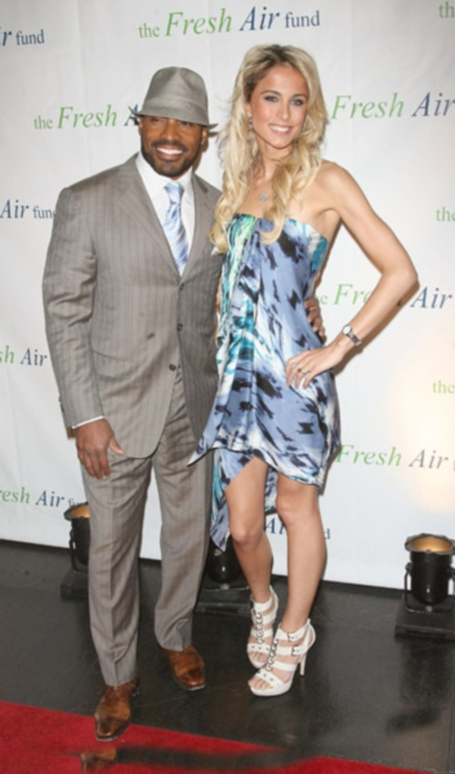Tiki Barber And Girlfriend Traci Lynn Johnson At 2011