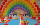 Rainbow Balloons for a Kid's Birthday Party