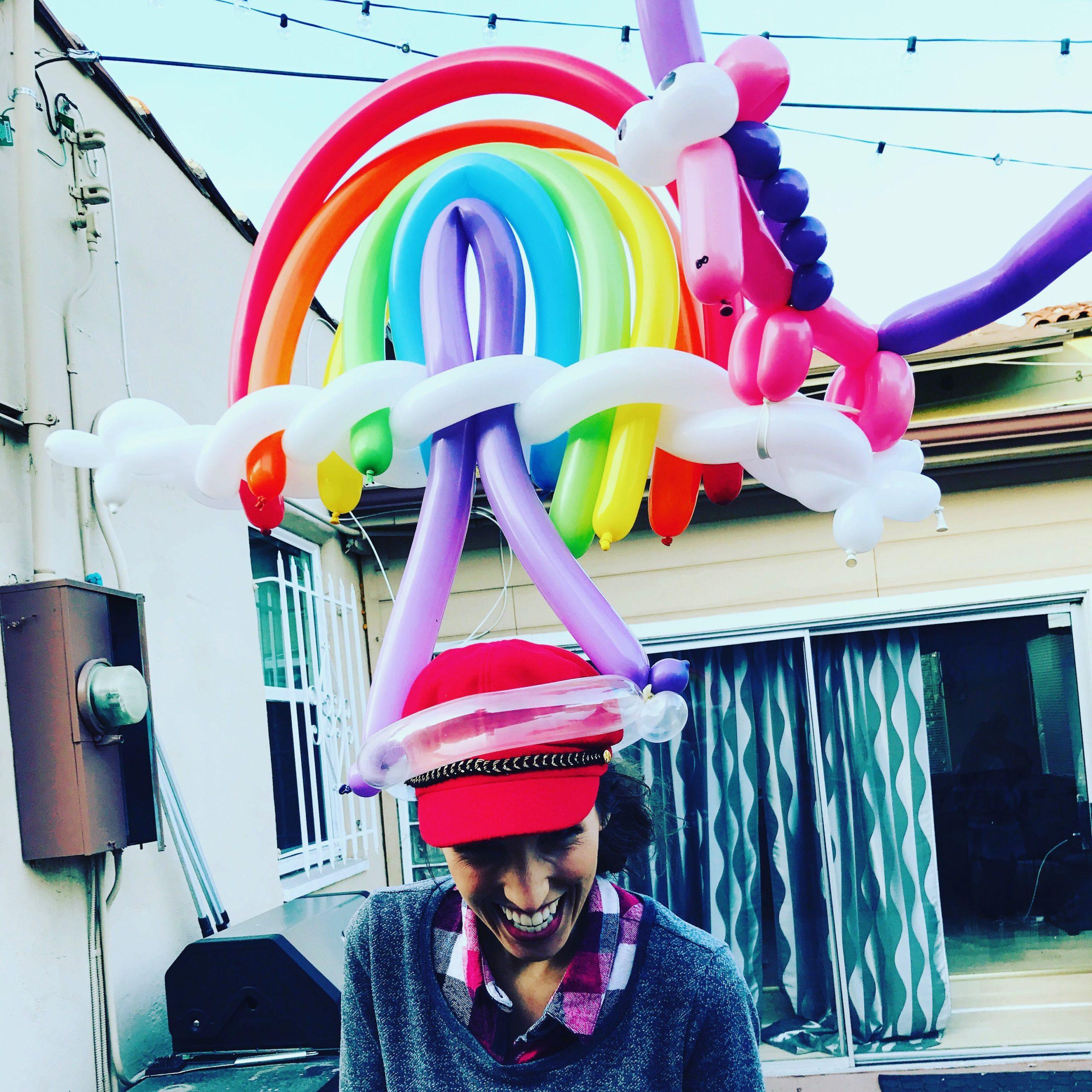 Rainbow Unicorn by The Balloon Guy