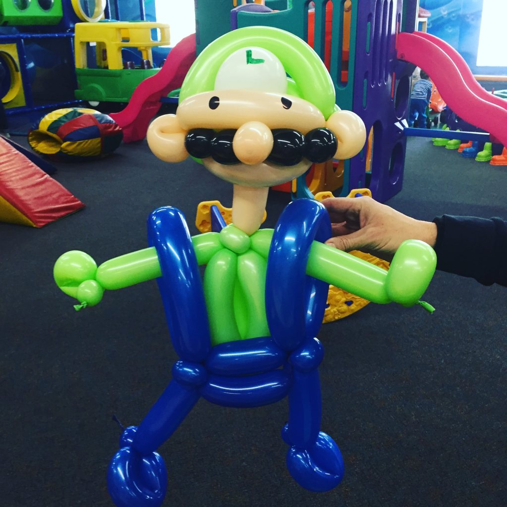 Luigi Balloon Animal by The BalloonGuyLA.com