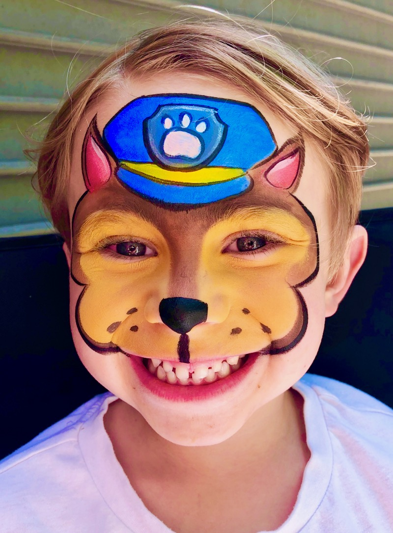 Paw Patrol Face Paint by TheBalloonGuyLA.com
