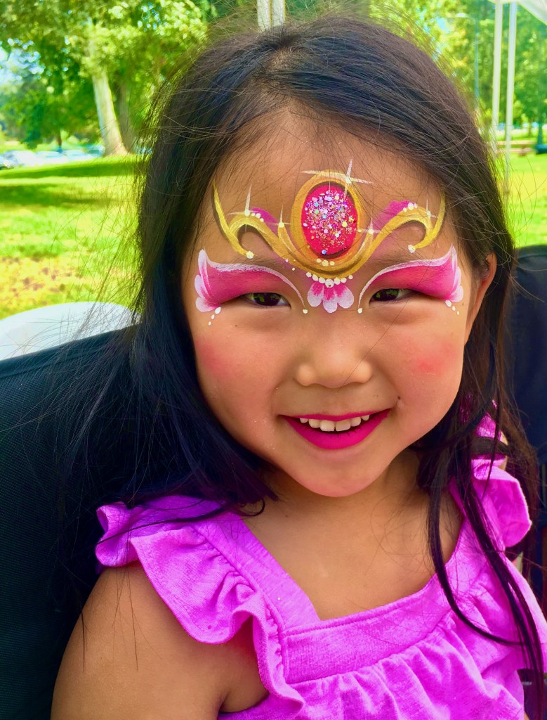 Princess Crown Face Paint by TheBalloonGuyLA.com